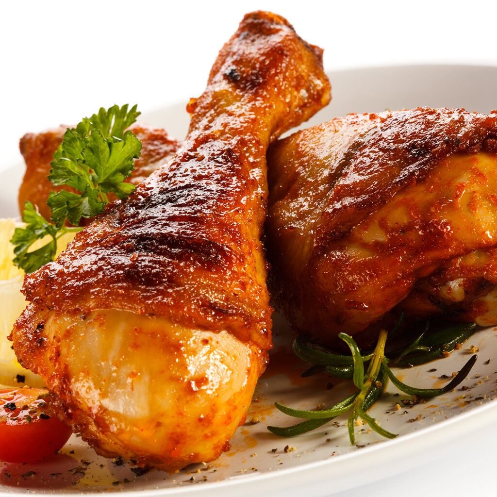 Roasted lemon chicken drumstick with rosemary and garlic by tanmia