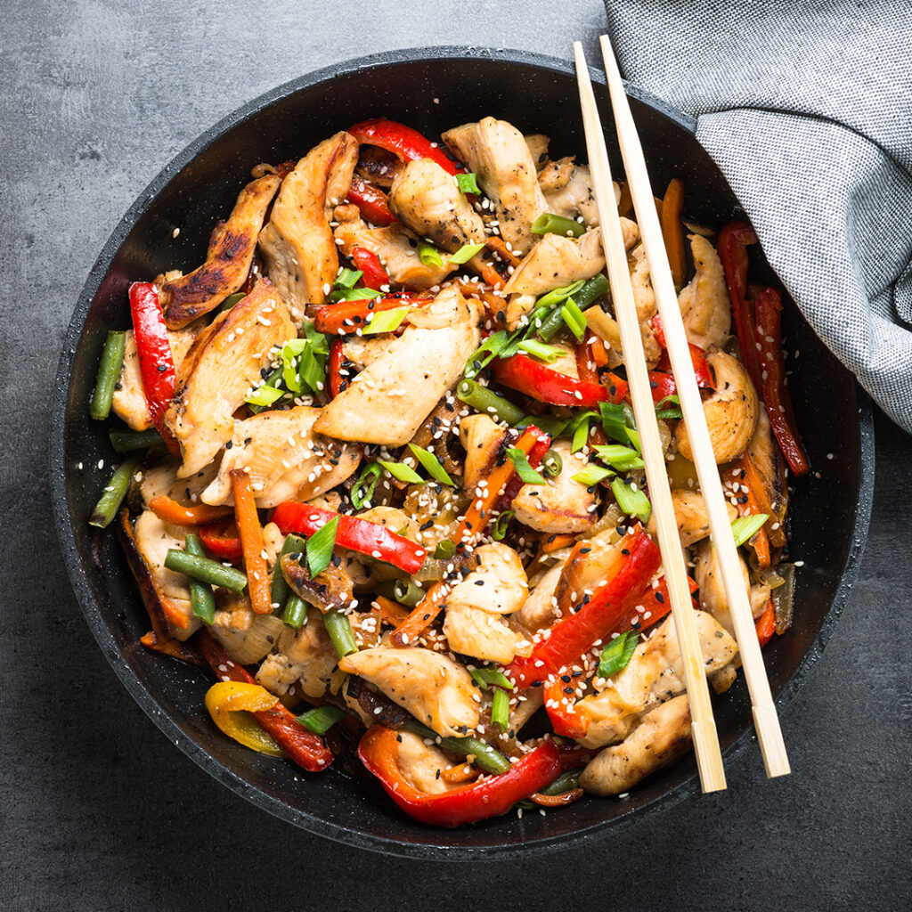 Chicken cabbage stir fry by Tanmia